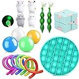 18er Anti Stress Spielzeug Set Fidget Toy Kinder Erwachsene, 4...