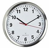 TFA Dostmann Funkwanduhr, mit geräuscharmen Sweep Uhrwerk, Glas,...
