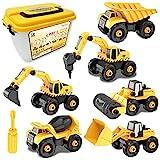 Vanplay Montage Große LKW Spielzeug DIY 6-in-1 BAU Bagger...