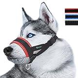 ILEPARK Maulkorb aus Nylon um Hunde vom Beisen, Bellen und Kauen...